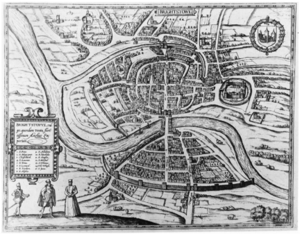 Joris Hoefnagel's 1581 Map of Brightstowe